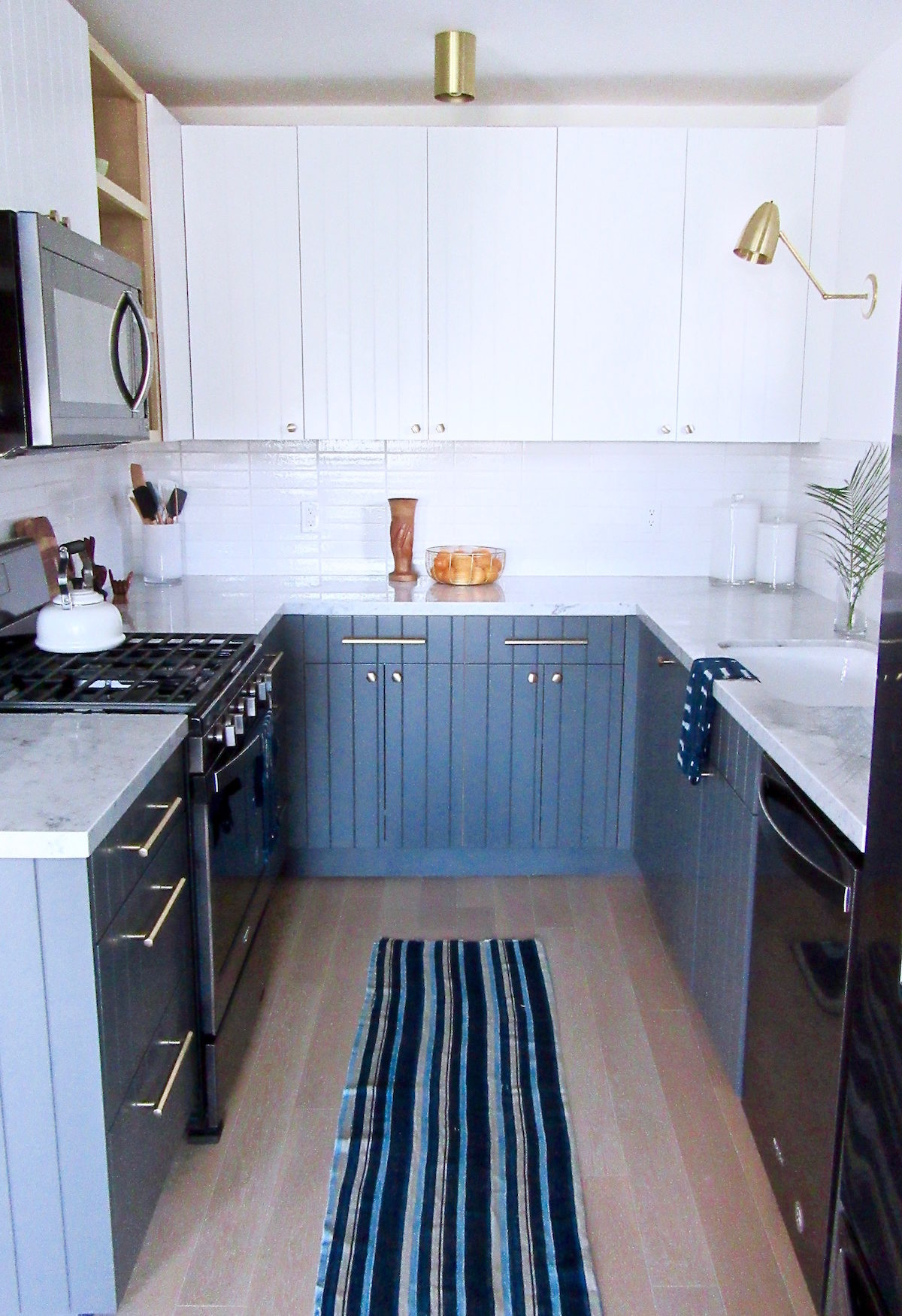 Silver Lake Small Kitchen Remodel - Black Appliance Trend ...