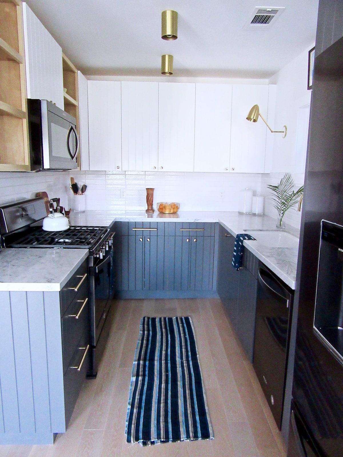 Silver Lake Small Kitchen Remodel Black Appliance Trend