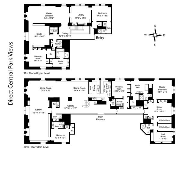 Floor plan of an apartment