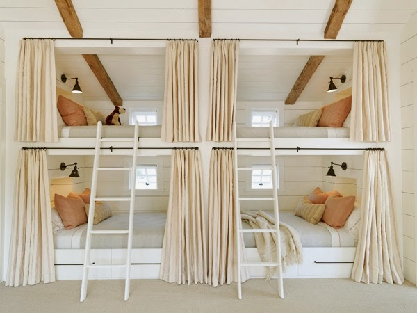Marvelous Sleeper Train Style u built in bunk beds stacked on top of each other are reminiscent of Pullman car trains u sleeping acmodations with upper and lower