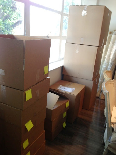 boxes ready for shipping at COCOCOZY HQ