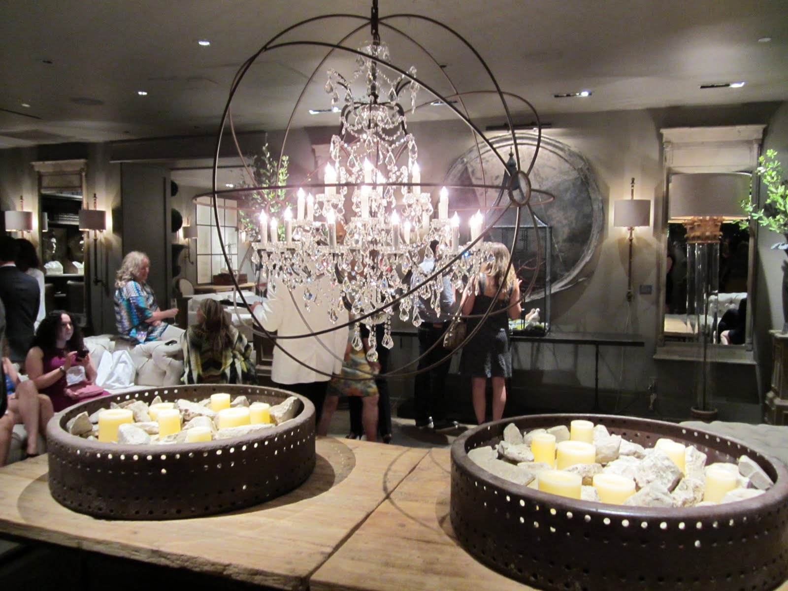 Beautiful Inside the glam new Restoration Hardware store in Los Angeles above