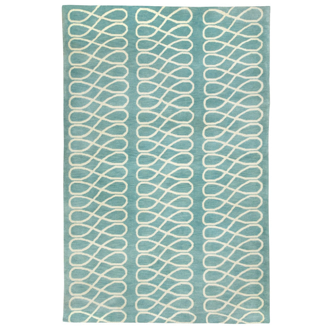COCOCOZY Loop Rug in Light Blue