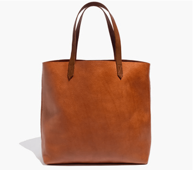 Madewell Transport Tote in English Saddle Leater