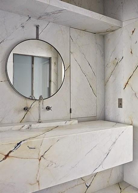 Marble master bathroom by Joseph Dirand