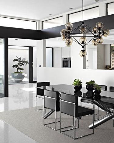 Striking black white design cococozy for Mogul interior designs