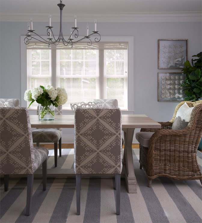 Decorating With Stripes For A Stylish Room: GRAY & STRIPES IN A SEASIDE COTTAGE!