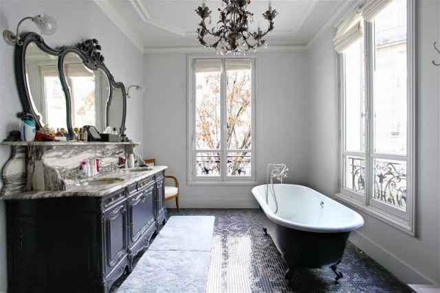 Bathroom of a Paris townhouse