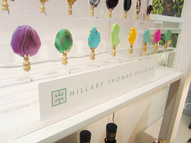 An assortment of colorful and intricately designed stone finials by Finial Touch by Hillary Thomas