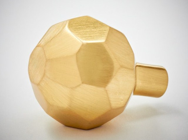 solid brass faceted door knob