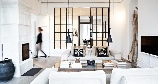 Naja Munthe's modern living room