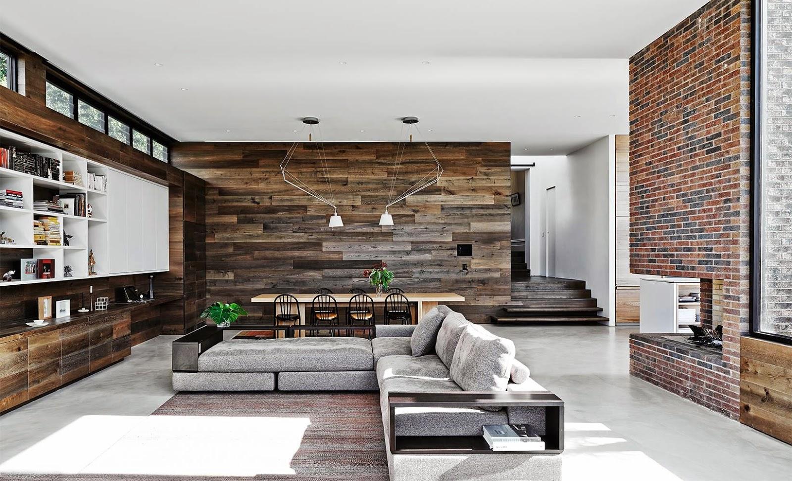 Open Floor Plan Decorating   Fireplace in an open floor ...
