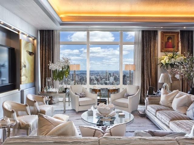 75 million dollar nyc penthouse see this house cococozy for Living room c o maidstone