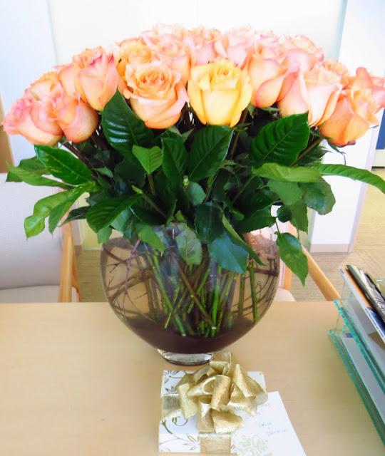 peach orange roses flowers