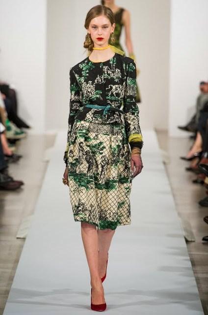 Model from Oscar de la Renta's Fall 2013 Ready to Wear show