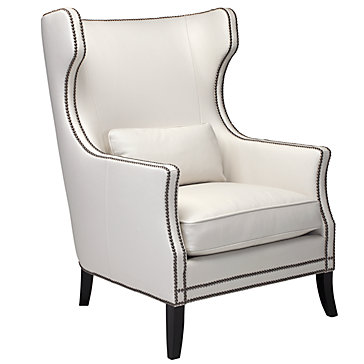 wingback chairs have wings white leather wing back chair nailhead trim