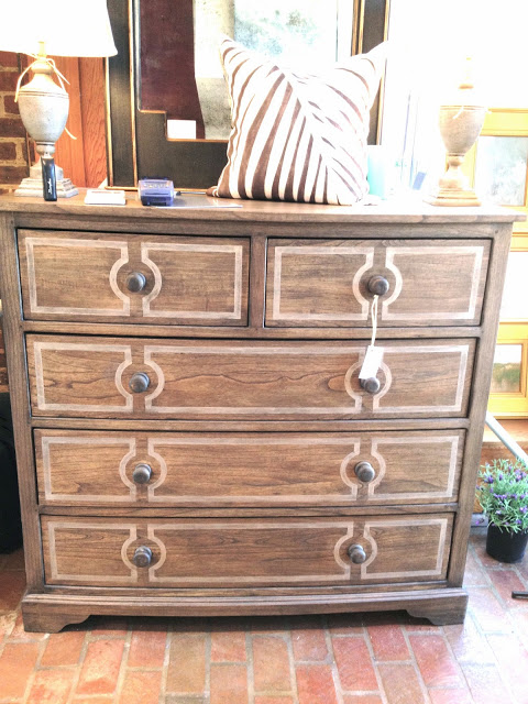 bow front painted wood dresser USA made chest of drawers bedroom bed storage furniture home furnishings