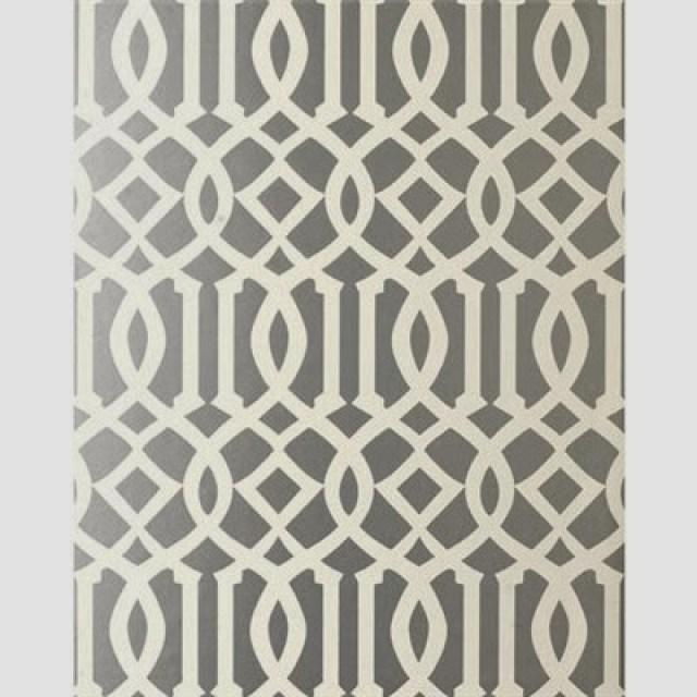 Grey Kelly Wearstler Imperial Trellis Wallpaper
