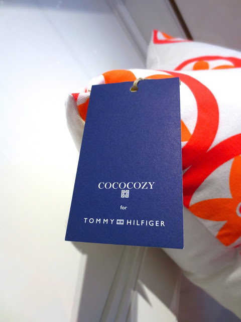 COCOCOZY Tommy Hilfiger Surf Shack Collection pillow home furnishing decor hang tag