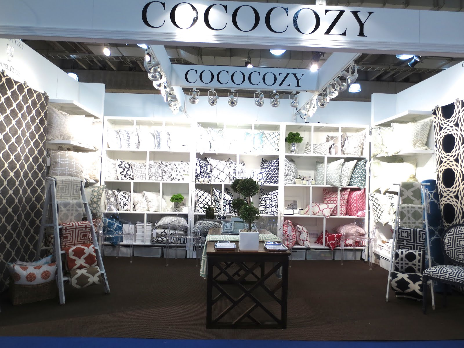 The COCOCOZY Booth At New York International Gift Fair Above