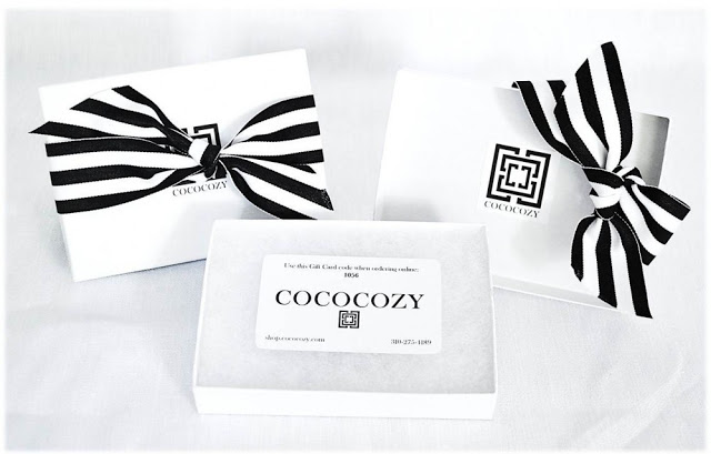 COCOCOZY gift card and gift box