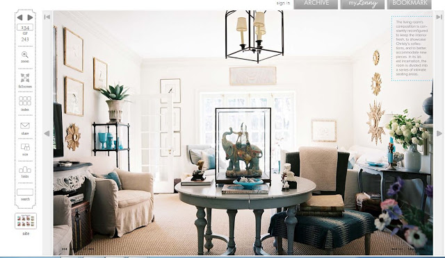 living room featured in Lonny Magazine