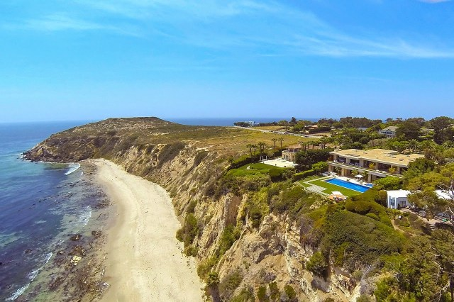 View from a beach house in Malibu, CA