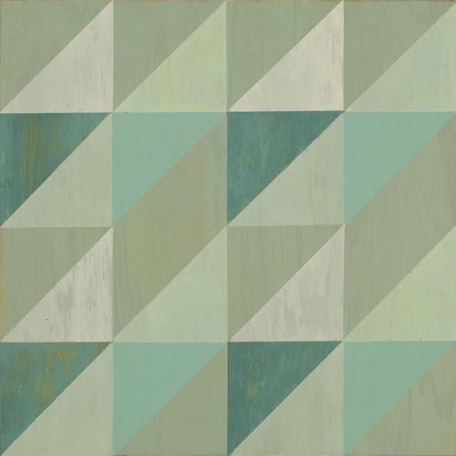 Painted wood floor tile