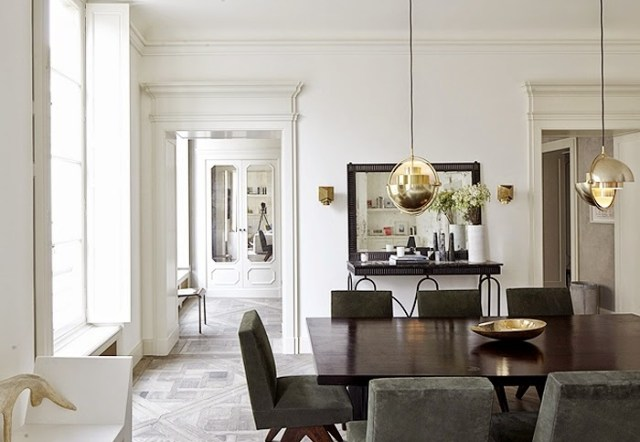 Neutral dining room by Joseph Dirand