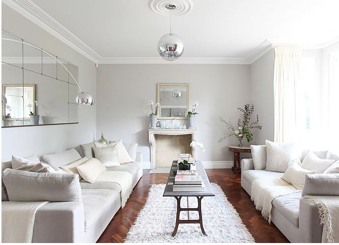 Living Room Furniture Walnut Wood walnut wood floors & gray walls! | cococozy