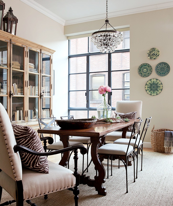 Like The Brick Beams Dark Floors Decor Chandelier Is: DESIGNER JENNY WOLF'S INSPIRING SPACES AND PLACES!