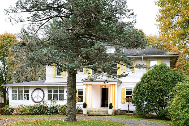 Exterior of the house after Robert and Cortney Novogratz's remodel