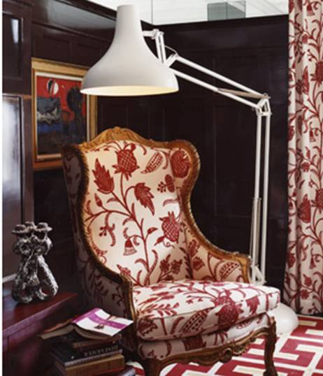 Red white you pulling out the stops on a classic color for Red and white upholstered chairs