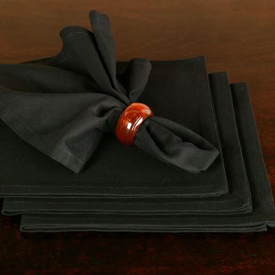 Black cotton dinner napkins from Z Gallerie