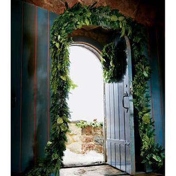 Fresh evergreen garland from Smith & Hawken