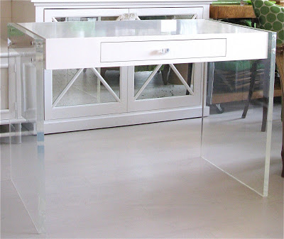 Lucite desk from Pieces