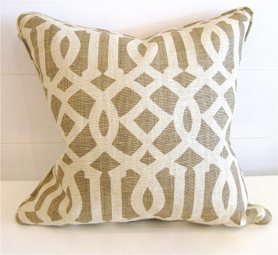 Kelly Wearstler Imperial Trellis fabric covered pillow from Pieces