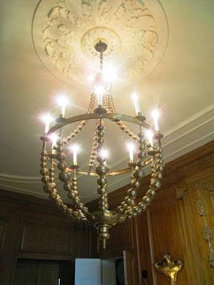 Studiolo's solid brass Garland Chandelier in the Drawing Room at the Greystone Mansion
