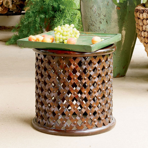 Cheap To Chic An African Accent Table Made For A King