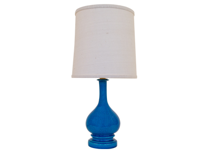 Vintage ceramic blue lamp from Jayson Home & Garden