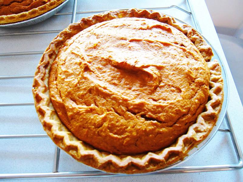 Homemade sweet potato pie