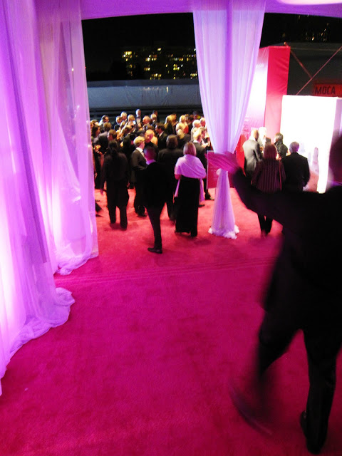 Red carpet at MOCA's 30th anniversary party