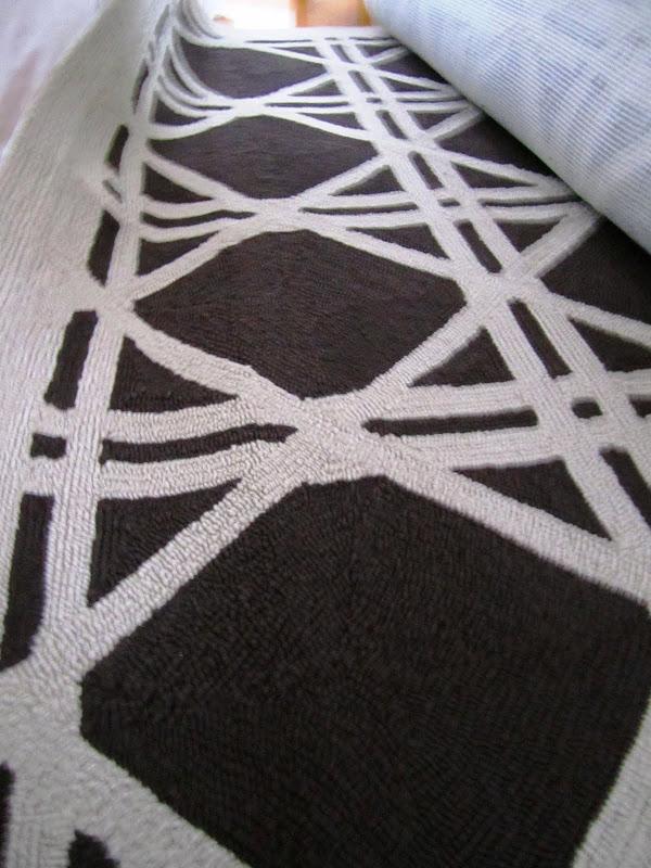 Cane print rug