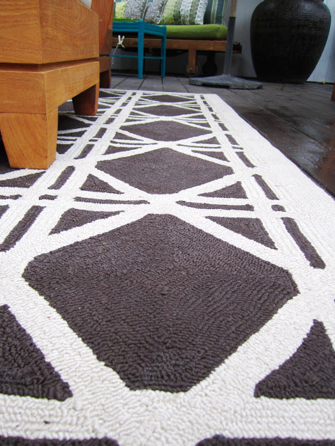 Cane pattern rug from Turf