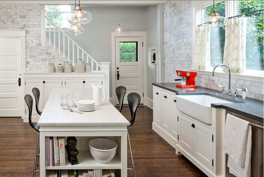 Kitchen Tiles Lincoln design idea: when in doubt, just tile the wall!   cococozy