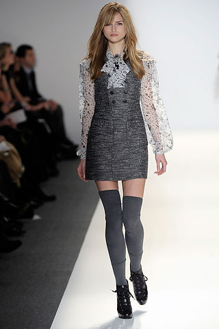 Model from Cynthia Steffe's Fall Ready-to-Wear 2010 fashion show
