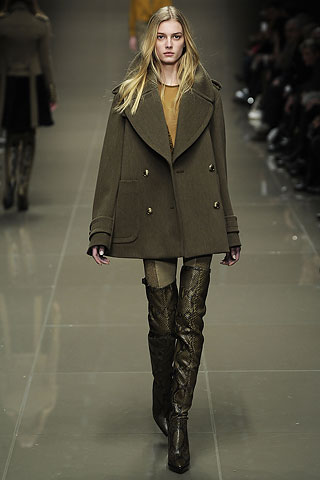 Model from Burberry Prorsum's 2010 Fall Ready-to-Wear runway show