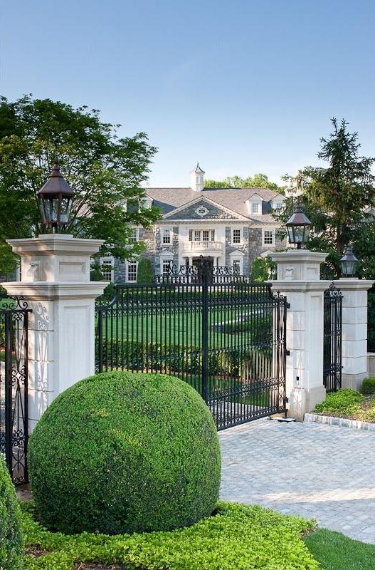 Gate of a mansion in New Jersey