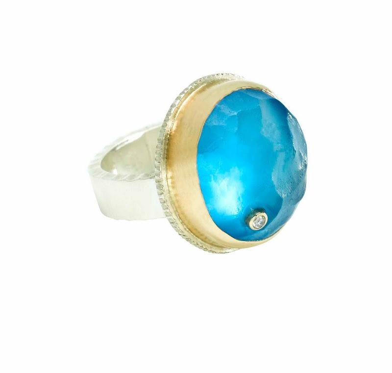 Swiss blue topaz ring by Jamie Joseph