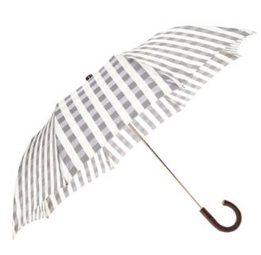 Brown and white gingham umbrella from Buffalo Check Umbrella